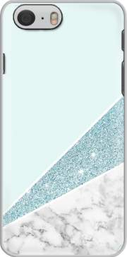 Initiale Marble and Glitter Blue Case for Iphone 6 4.7