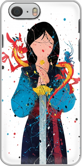 Case Mulan Princess Watercolor Decor for Iphone 6 4.7