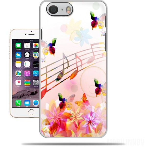 Case Musical Notes Butterflies for Iphone 6 4.7