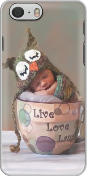 Painting Baby With Owl Cap in a Teacup Case for Iphone 6 4.7