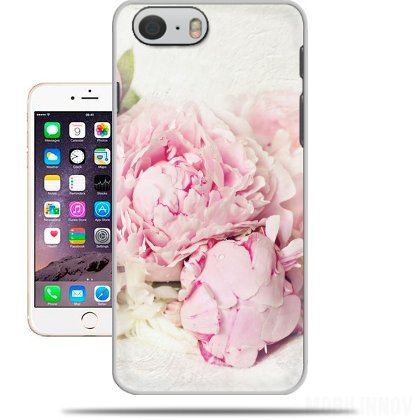 Case peonies on white for Iphone 6 4.7