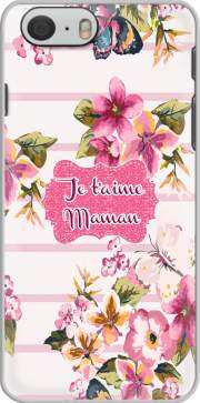 Pink floral Marinière - Je t'aime Maman Case for Iphone 6 4.7