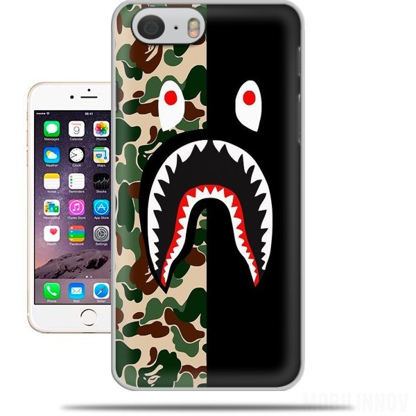 Case Shark Bape Camo Military Bicolor for Iphone 6 4.7