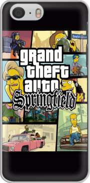 Simpsons Springfield Feat GTA Iphone 6 4.7 Case