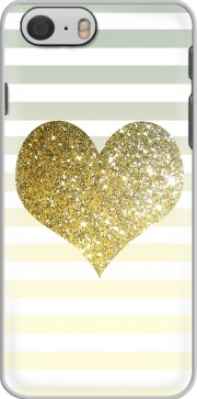 Sunny Gold Glitter Heart Case for Iphone 6 4.7