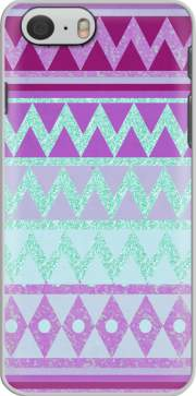 Tribal Chevron in pink and mint glitter Case for Iphone 6 4.7