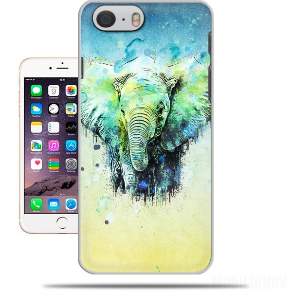 Case watercolor elephant for Iphone 6 4.7