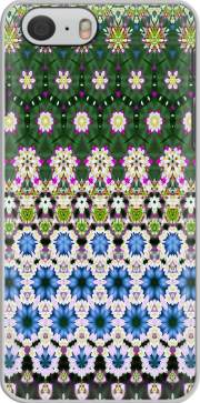 Abstract ethnic floral stripe pattern white blue green for Iphone 6s