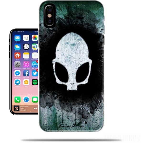 Case Skull alien for Iphone X / Iphone XS
