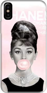 Audrey Hepburn bubblegum Case for Iphone X / Iphone XS