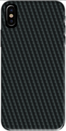 Case Carbon schwarz for Iphone X / Iphone XS