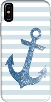 Blue Glitter Mariniere Case for Iphone X / Iphone XS