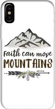 Faith can move montains Matt 17v20 Bible Blessed Art Case for Iphone X / Iphone XS