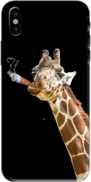 Girafe smoking cigare Iphone X / Iphone XS Case