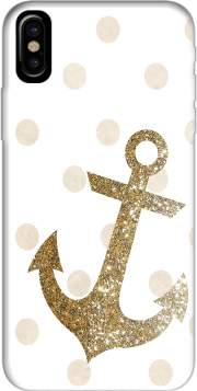 Glitter Anchor and dots in gold Case for Iphone X / Iphone XS