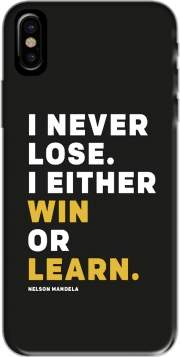 i never lose either i win or i learn Nelson Mandela Iphone X / Iphone XS Case