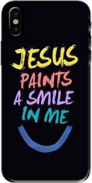 Jesus paints a smile in me Bible Case for Iphone X / Iphone XS
