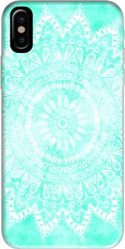 Mint Bohemian Flower Mandala Case for Iphone X / Iphone XS