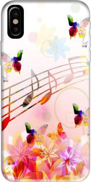 Musical Notes Butterflies Case for Iphone X / Iphone XS