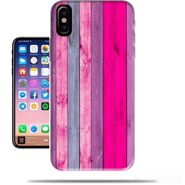 Case Pink wood for Iphone X / Iphone XS
