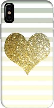 Sunny Gold Glitter Heart Case for Iphone X / Iphone XS