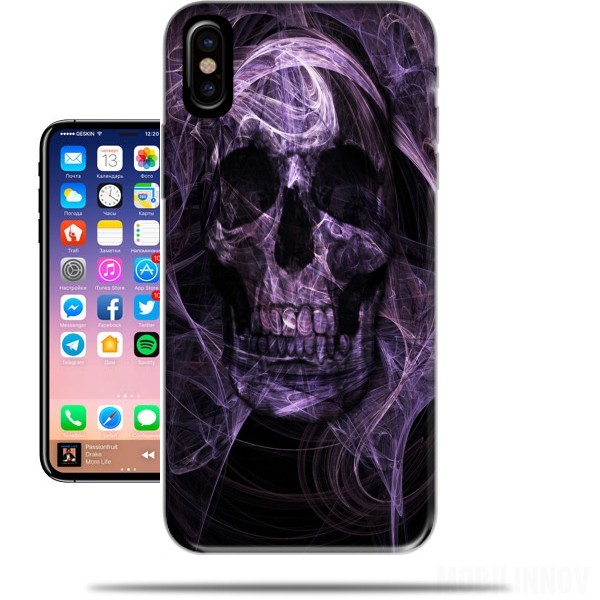 Case Violet Skull for Iphone X / Iphone XS