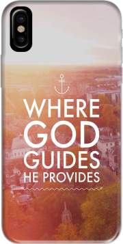 Where God guides he provides Bible Case for Iphone X / Iphone XS