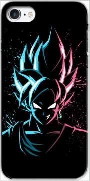 Black Goku Face Art Blue and pink hair for Iphone 7 / Iphone 8