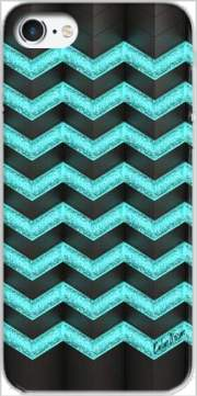 Blue Glitter Chevron Case for Iphone 7 / Iphone 8