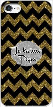 chevron gold and black - Je t'aime Papa Case for Iphone 7 / Iphone 8