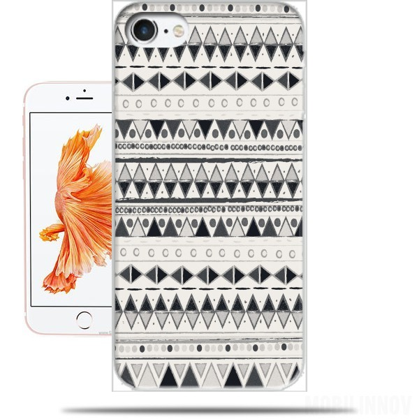 Case Ethnic Candy Tribal in Black and White for Iphone 7 / Iphone 8