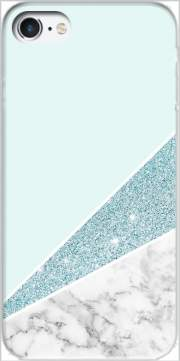 Initiale Marble and Glitter Blue Case for Iphone 7 / Iphone 8
