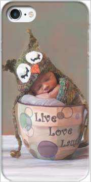 Painting Baby With Owl Cap in a Teacup Case for Iphone 7 / Iphone 8
