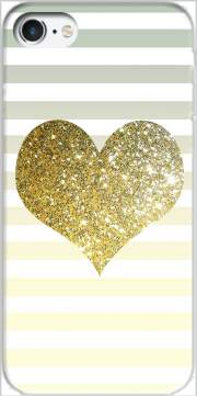 Sunny Gold Glitter Heart Case for Iphone 7 / Iphone 8