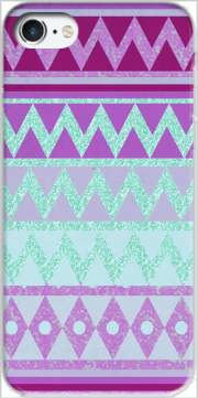 Tribal Chevron in pink and mint glitter for Iphone 7 / Iphone 8