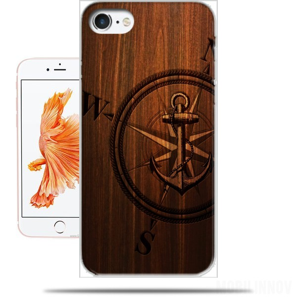 Case Wooden Anchor for Iphone 7 / Iphone 8