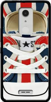 All Star Basket shoes Union Jack London Case for Alcatel A3 XL