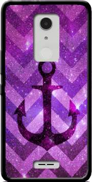 Anchor Chevron Purple Case for Alcatel A3 XL