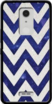 Chevron silver in night galaxy Case for Alcatel A3 XL
