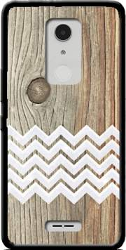 Chevron on wood Case for Alcatel A3 XL