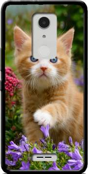 Cute ginger kitten in a flowery garden, lovely and enchanting cat Case for Alcatel A3 XL