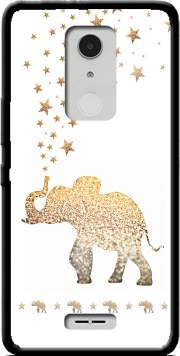 Gatsby Gold Glitter Elephant Case for Alcatel A3 XL