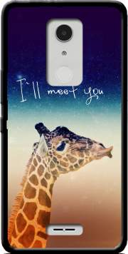 Giraffe Love - Left Case for Alcatel A3 XL