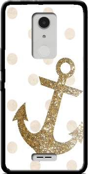 Glitter Anchor and dots in gold Case for Alcatel A3 XL