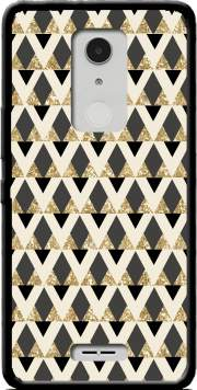 Glitter Triangles in Gold Black And Nude Case for Alcatel A3 XL
