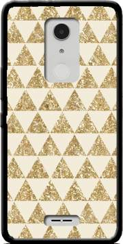 Glitter Triangles in Gold Case for Alcatel A3 XL