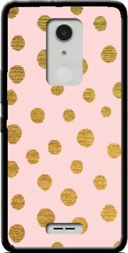 Golden Dots And Pink Case for Alcatel A3 XL