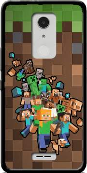 Minecraft Creeper Forest Case for Alcatel A3 XL
