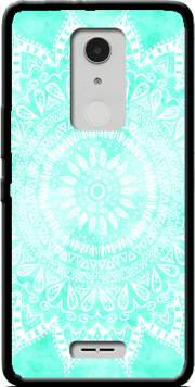 Mint Bohemian Flower Mandala Case for Alcatel A3 XL