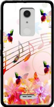 Musical Notes Butterflies Case for Alcatel A3 XL